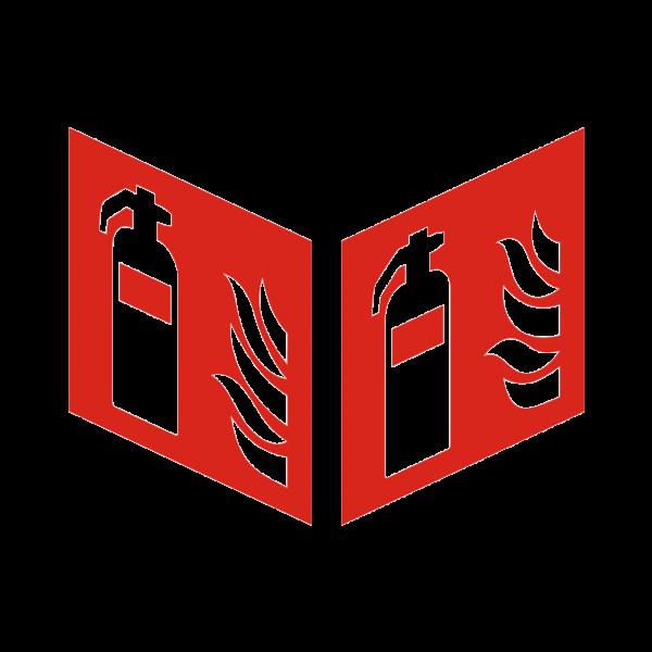 Nasenschild Feuerlöscher nach ISO 7010 (F001) / ASR A1.3