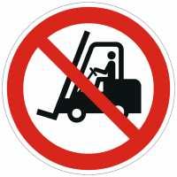 Verbotszeichen Flurförderfahrzeuge verboten nach ISO 7010 (P006)