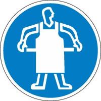 Gebotszeichen Schutzschürze tragen