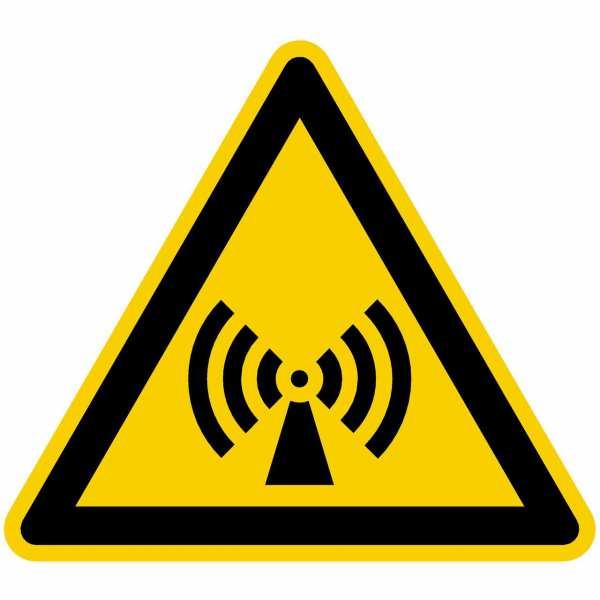 Warnzeichen Warnung vor elektromagnetischem Feld nach BGV A8 (W12)