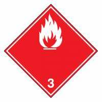 Gefahrzettel Entzündbare flüssige Stoffe (weiße Flamme) Klasse 3