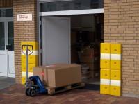 Wand- und Eckschutz gelb aus Kunststoff