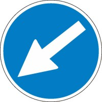 Gebotszeichen Richtungshinweis