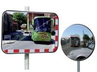 Universal-Verkehrsspiegel mit oder ohne Reflektorband