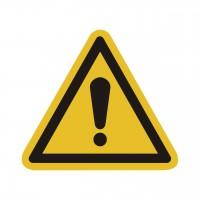 Warnzeichen Allgemeines Warnzeichen nach ISO 7010 (W001)