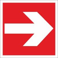 Brandschutzzeichen Richtungsangabe links/rechts nach BGV A8 (F01)