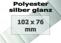 Polyester-Etiketten - silber glanz (500 Stk.)