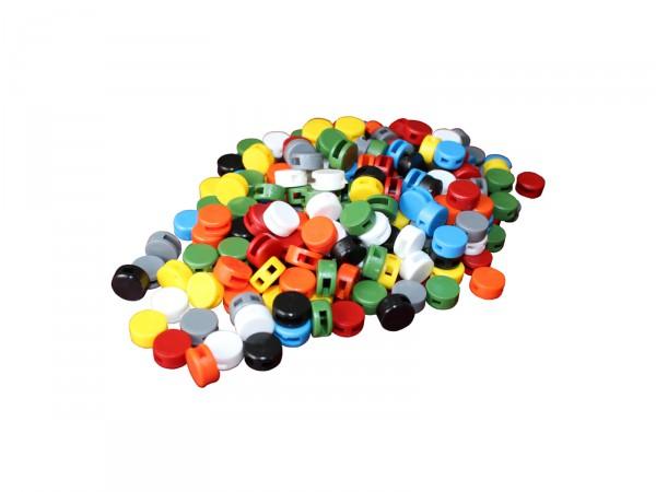 Kunststoff-Plomben (10 mm), 1000 Stück, Farbe nach Wahl