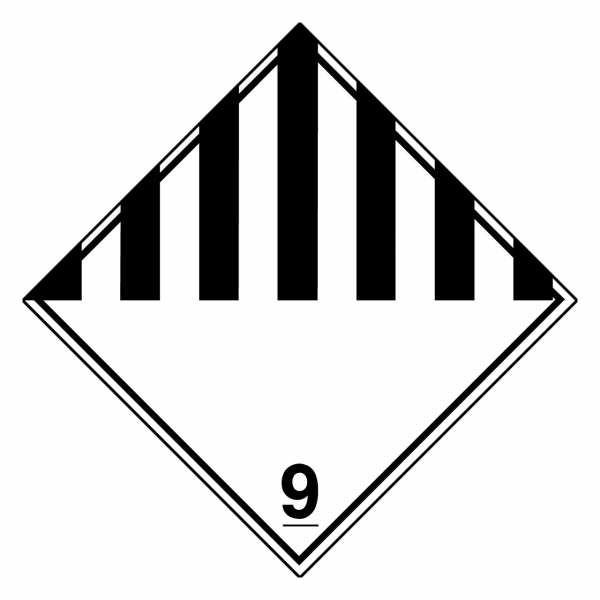 Gefahrzettel Verschiedene gefährliche Stoffe Klasse 9
