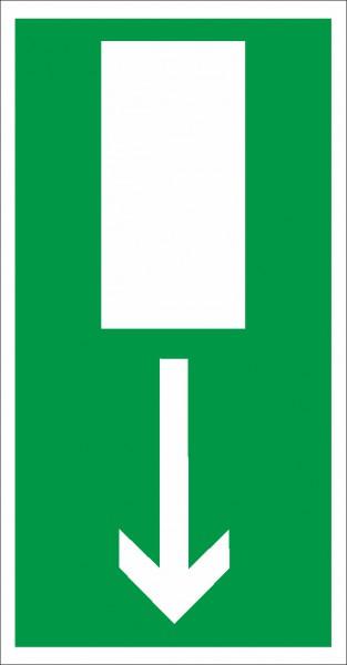 Rettungszeichen Notausgang nach BGV A8 (E15)