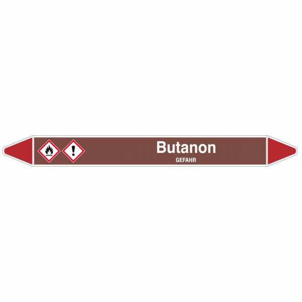 Brady Rohrmarkierer mit Text Butanon - GEFAHR