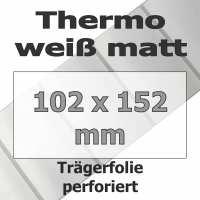 Thermo-Etiketten - weiß matt (475 Stk. auf Rolle)