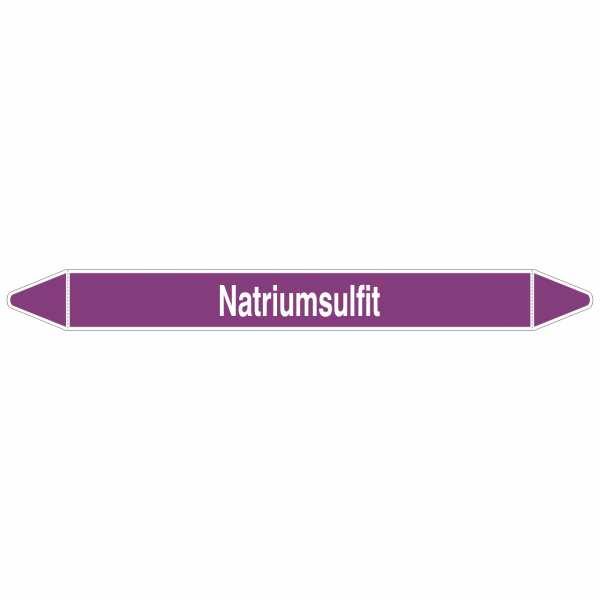 Brady Rohrmarkierer mit Text Natriumlsulfit