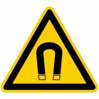 Warnung vor magnetischem Feld nach BGV A8 (W13)