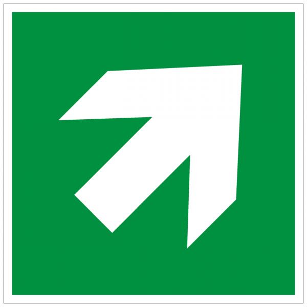Rettungszeichen Richtungsangabe aufwärts abwärts nach ISO 7010 (E006)
