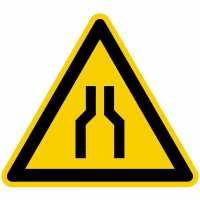 Warnung vor Engstellen nach BGV A8 (W31)