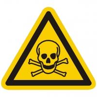 Warnzeichen Warnung vor giftigen Stoffen nach ISO 7010 (W016)
