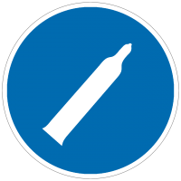 Gebotszeichen Druckgasflasche
