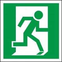 Rettungszeichen Notausgang rechts (BGV A8 E10)