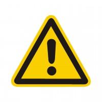 Warnung vor einer Gefahrenstelle nach BGV A8 (W00)