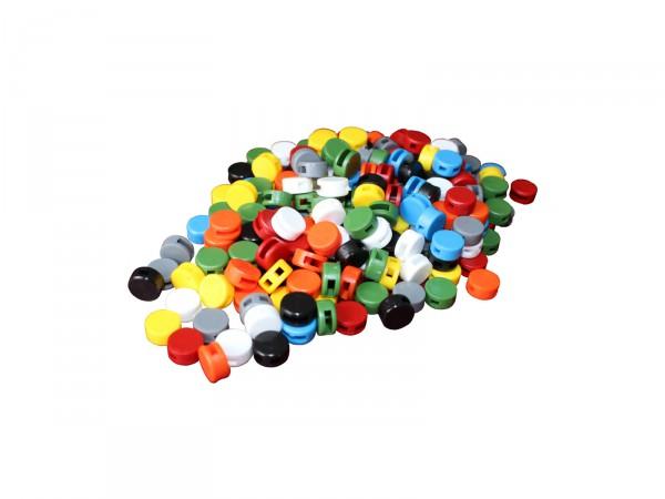 Kunststoff-Plomben (8mm), 1000 Stück, Farbe nach Wahl