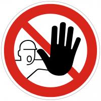 Verbotszeichen Zutritt für Unbefugte verboten nach DIN 4844-2 ISO 7010 D-P006