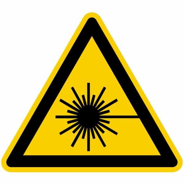 Warnzeichen Warnung vor Laserstrahl nach BGV A8 (W10)