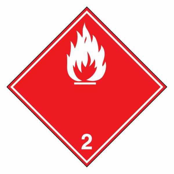 Unterklasse 2.1 - Entzündbare Gase (weiße Flamme)