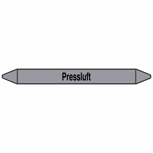 Brady Rohrmarkierer mit Text Preßluft