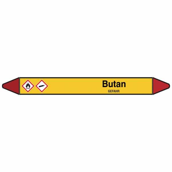 Brady Rohrmarkierer mit Text Butan - GEFAHR
