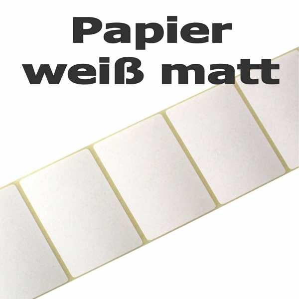 Papieretiketten weiß matt und UV beständig