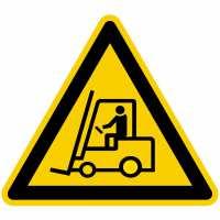 Warnzeichen Warnung vor Flurförderzeugen nach BGV A8 (W07)