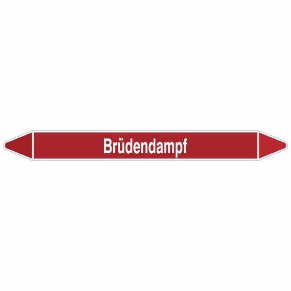 Brady Rohrmarkierer mit Text Brüdendampf