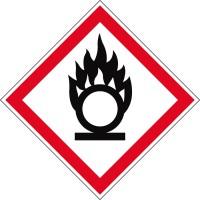 Gefahrensymbol Flamme über Kreis GHS03
