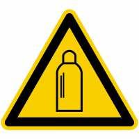 Warnzeichen Warnung vor Gasflaschen nach BGV A8 (W19)