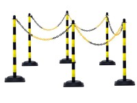 Kettenpfosten-Set aus Kunststoff gelb-schwarz