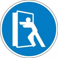 Gebotszeichen Tür stets schliessen