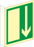 Fahnenschild Notausgang nach BGV A8 (E14)